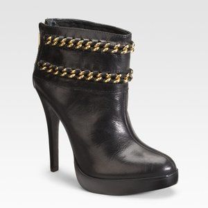 TORY BURCH LYSA CHAIN ANKLE BOOTIES BOOTS SIZE 8
